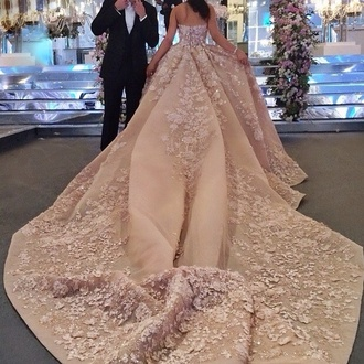 dress wedding dress pink elie saab white dress wedding gown blush wedding dress prom prom dress long prom dress prom gown lace wedding dress pink dress champagne dress a line wedding dresses a line dress gorgeous dress beautiful dresses
