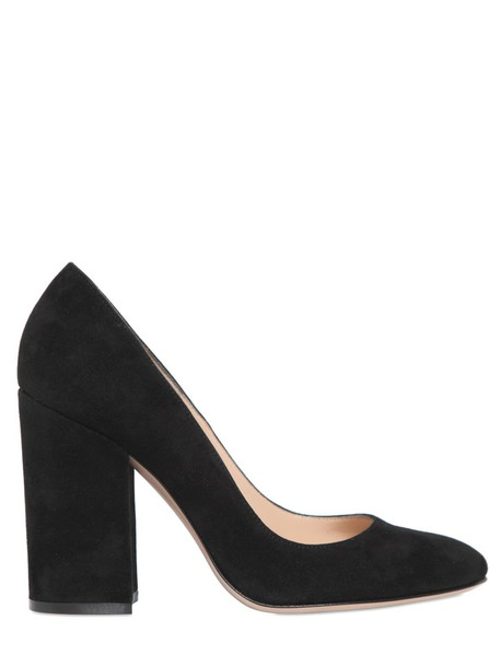 Gianvito Rossi suede pumps pumps suede black shoes