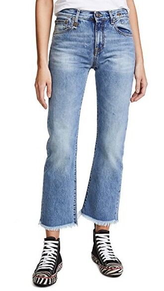 jeans straight jeans high