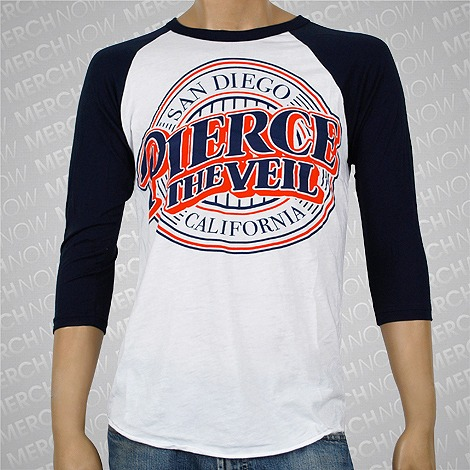 Baseball Logo White/Navy : Pierce The Veil