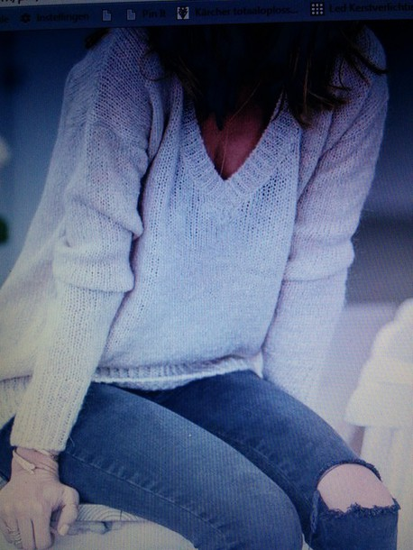 sweater beige v neck oversized sweater knitted sweater knit jeans