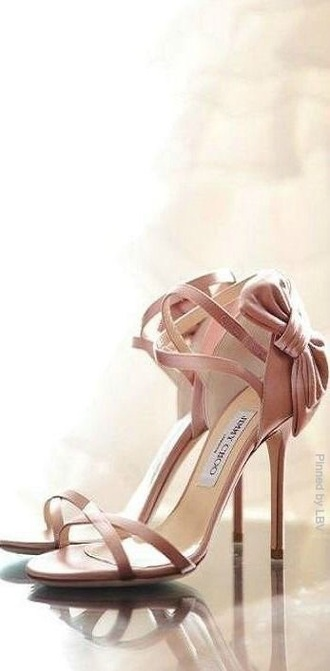 shoes jimmy choo rosé sandales cute bow