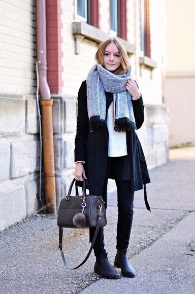 scarf blogger by annna bag chelsea boots casual