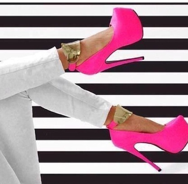 shoes pink pumps