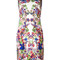 Roberto cavalli allover print fitted dress, women's, size: 48, spandex/elastane/viscose
