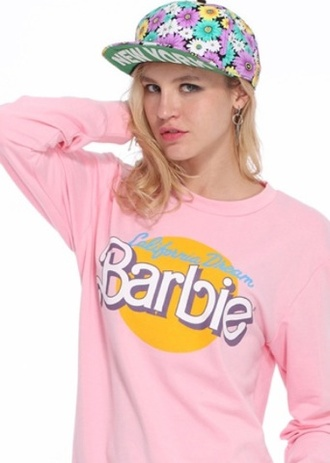 hat cap snapback flowers girl vintage new york city sweater barbie purple yellow green pretty cute swag sweet nice fabulous