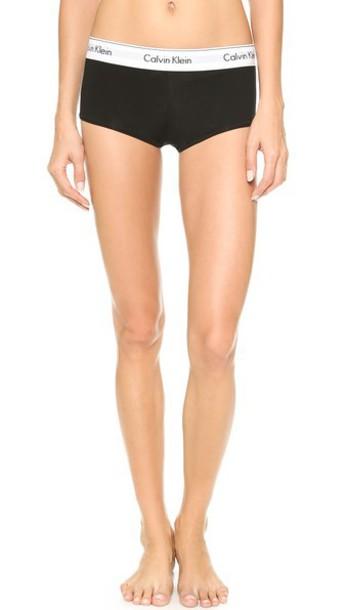 Calvin Klein Underwear Modern Cotton Boy Shorts - Black
