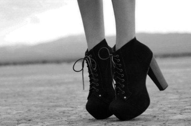 black shoes boots heels black shoes big heel black heels black shoes laces laced up heels