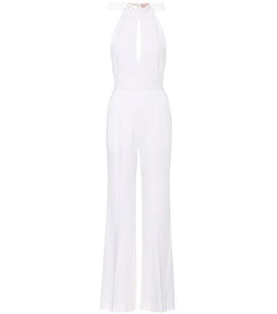 jumpsuit silk wool white