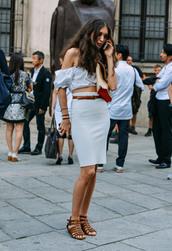 top,skirt,pencil skirt,light grey skirt,light grey
