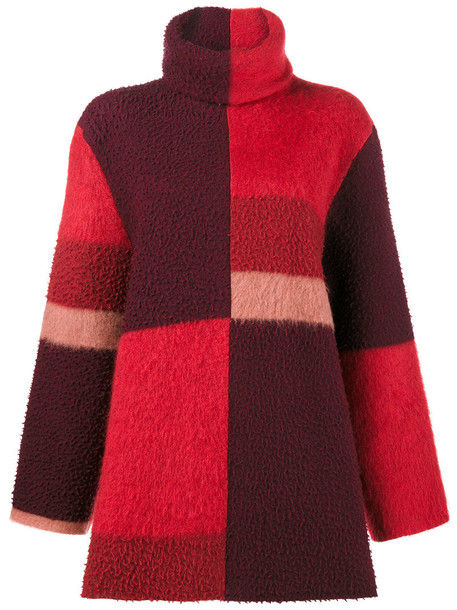 Roksanda jumper oversized women mohair wool red sweater