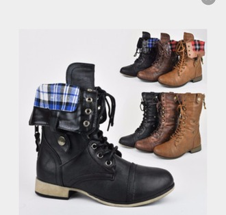 shoes folded combat boots