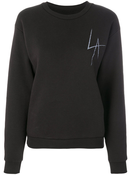 Local Authority - Bad Company sweatshirt - women - Cotton/Polyester - L, Black, Cotton/Polyester