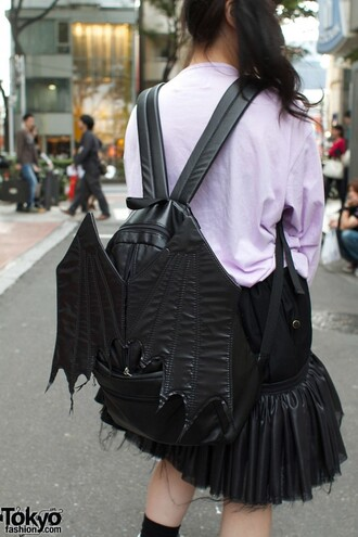 bag bat bat bag bat wings wings black goth emo bat backpack backpack tokyo tokyo fashion