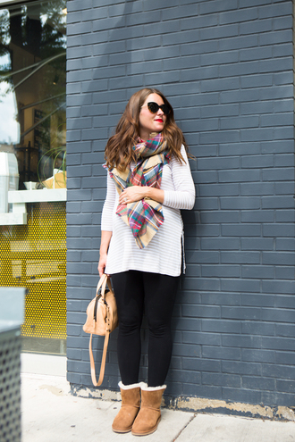 sequins and stripes blogger scarf leggings shoes bag sunglasses
