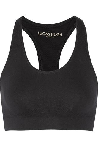 bra sports bra knit black underwear