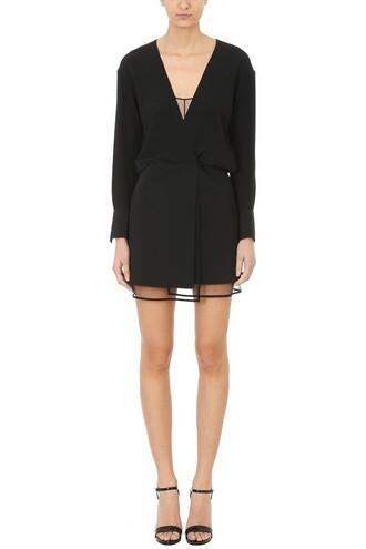 dress mini dress mini v neck black