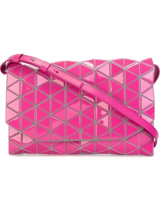 women bag shoulder bag leather purple pink pattern