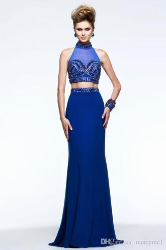dress royal blue prom dress royal blue dress blue dress blue beaded dress