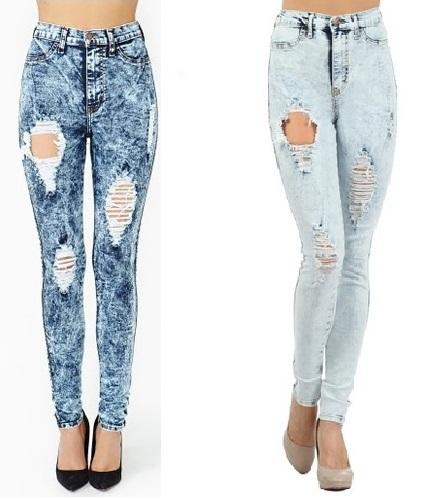 Highwaist Acid Wash Skinny Jeans : Glamorous and Fabulous  