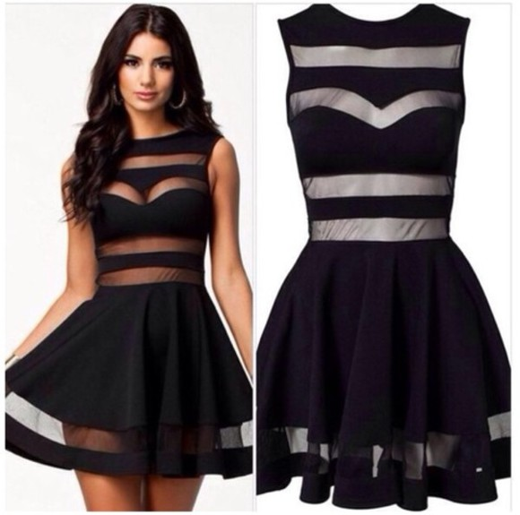 dress black flowy cutout pretty pleaseeee cute cute dress