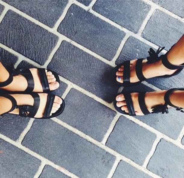 shoes black heels wedges