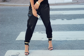 pants leather leggings hot edgy sexy cool shoes baggy sweatpants harem leather pants