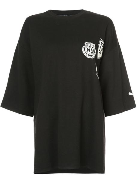 Fenty X Puma - oversized T-shirt - women - Cotton/Nylon - XL, Black, Cotton/Nylon