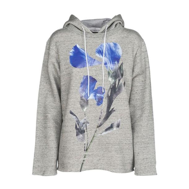 Golden goose hoodie floral print grey sweater