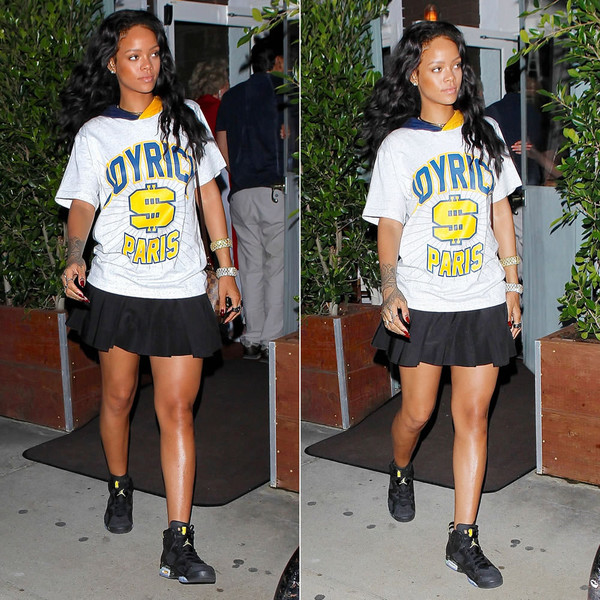 shirt rihanna t-shirt skirt shoes