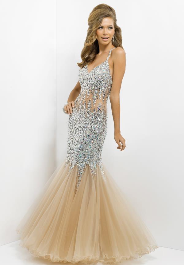 Blush Mermaid Prom Dress – Fashion dresses