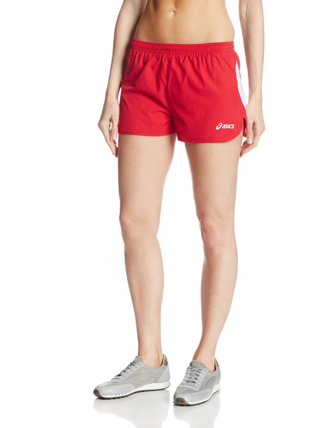 Amazon.com: ASICS Women's Wicked 1/2 Split Short (Red/White): Sports & Outdoors