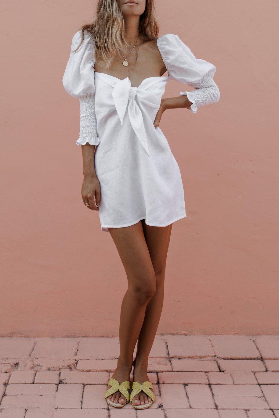 DAKOTA DRESS - WHITE