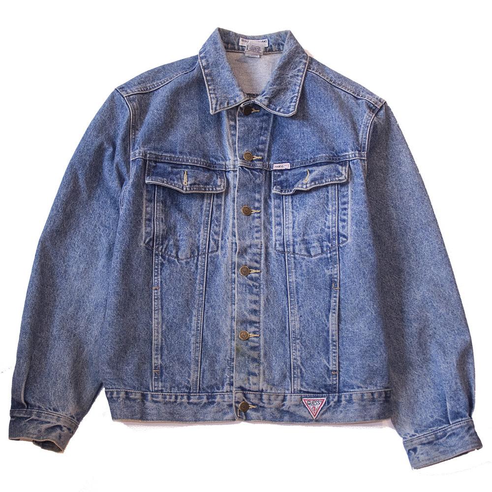 Guess faded denim trucker jacket