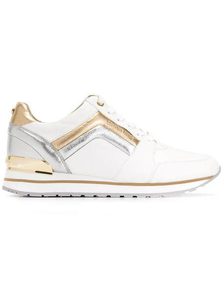 MICHAEL Michael Kors women sneakers leather white shoes