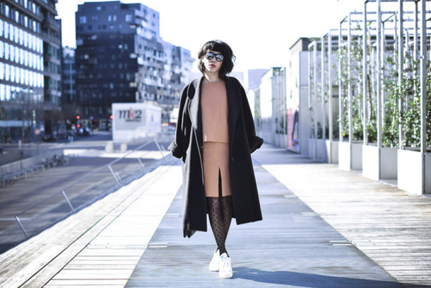 le dressing de leeloo blogger sunglasses two-piece long coat coat top
