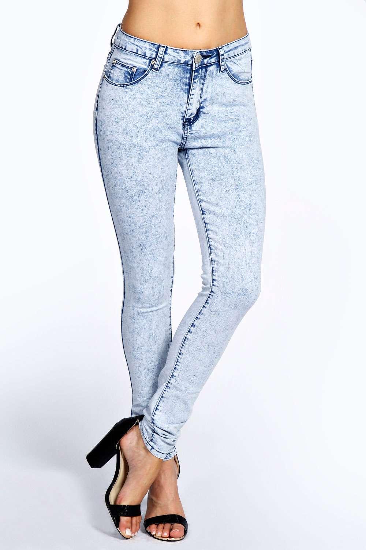 Shauna Super Skinny Stretch Ice Wash Jeans