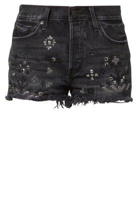 Levi's® ICONS 501 - Denim shorts - black - Zalando.co.uk