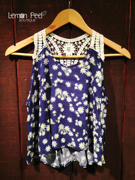 tank top daisy crochet