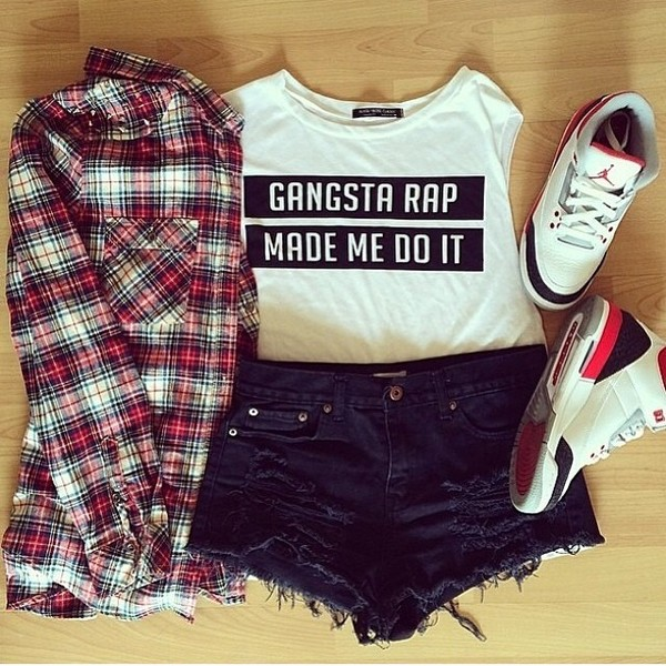 shorts blouse t-shirt
