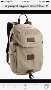bag,backpack,jansport,hiking,back to school,school bag,college,beige
