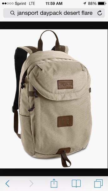 bag backpack jansport hiking back to school school bag college beige