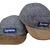 Camp Snapback Five Panel Red Box Logo Supreme Grey Chocolate Hat