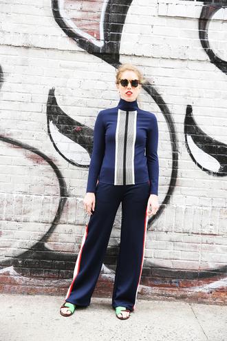 man repeller blogger shoes top bag shirt dress leggings scarf
