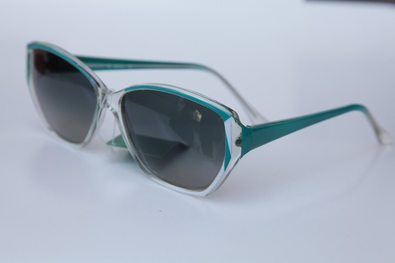 Teal/ medium bluegreen/ white/ clear vintage tortoise by gpnexxus