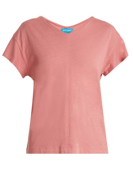 M.i.h Jeans t-shirt shirt t-shirt cotton light pink light pink top