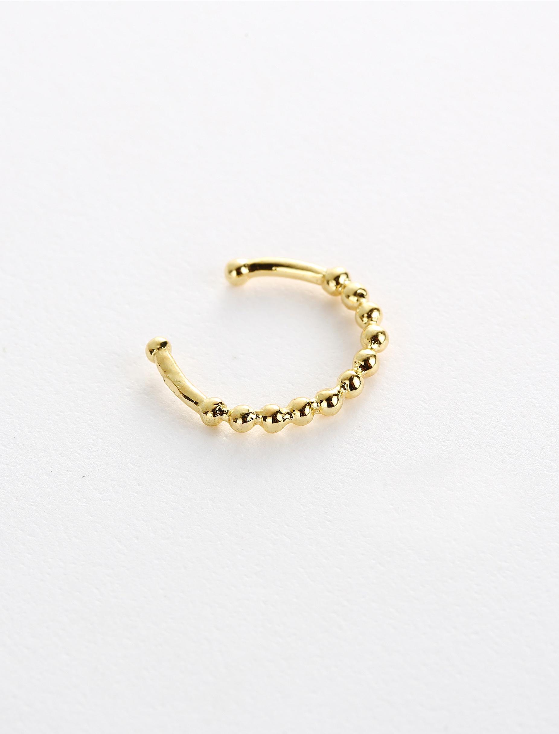 Gold mini ball faux septum ring