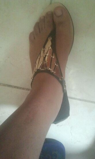 shoes black gold sandals gladiator gold toe ankle cuff metallic