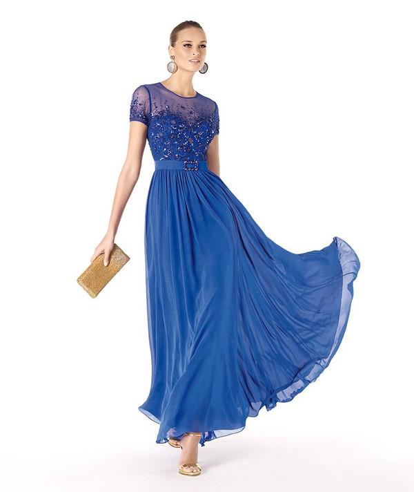 floor length chiffon blue evening dress chiffon blue evening dress