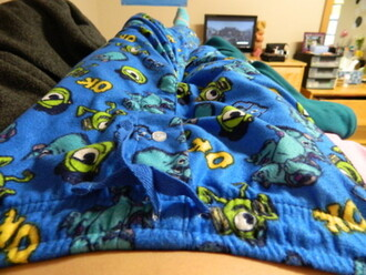 ivy sullivan cute blue pants tumblr pajamas monsters inc monster university dark blue cozy funny tumblr clothes girl childhood